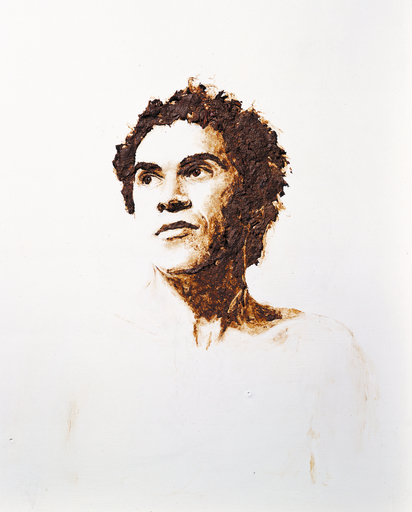 Self-portrait (Image of brother painted using artist's faeces)